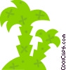 Island with palm trees Vector Clip Art picture