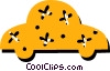 Vector Clipart image  of a Family car