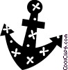 Vector Clip Art graphic  of a Ship anchor