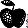 Vector Clipart picture  of an Apple with leaf