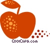 Apple with leaf Vector Clipart graphic