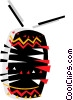 Vector Clip Art image  of an African drum