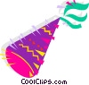 Vector Clip Art image  of a Party hat