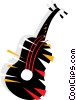Vector Clip Art graphic  of an Acoustic guitar