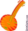 Vector Clipart illustration  of a Banjo