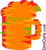Vector Clip Art image  of a Mug of beer