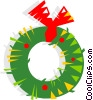 Christmas wreath Vector Clip Art picture