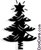Vector Clipart image  of a Christmas tree