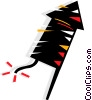 Vector Clip Art image  of a Firecracker