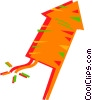 Vector Clip Art graphic  of a Firecracker
