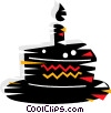 Piece of birthday cake Vector Clip Art graphic