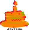 Piece of birthday cake Vector Clipart picture
