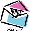 Vector Clip Art graphic  of a Open envelope