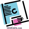 Vector Clip Art picture  of a Computer diskette