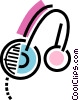 Head phones Vector Clipart illustration