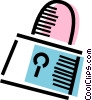 Vector Clipart picture  of a Padlock