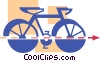 Ten speed bicycle Vector Clip Art picture
