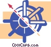 Captain's wheel Vector Clipart picture