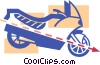 Vector Clip Art graphic  of a Street bike