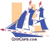 Vector Clipart illustration  of a Tall ship