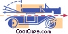 Vector Clipart image  of an Antique car