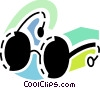 Vector Clip Art image  of a Sun glasses