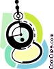 Vector Clip Art picture  of a Pocket watch
