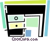 Vector Clipart picture  of a Work desk
