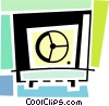 Vector Clip Art picture  of a Bank vault