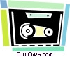 Vector Clipart illustration  of a Tape cassette