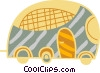 Vector Clip Art image  of a City bus