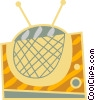 Vector Clip Art graphic  of a Television