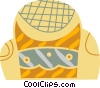 Vector Clip Art image  of a Living room chair