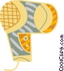 Vector Clipart graphic  of a Hair dryer