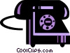 Vector Clip Art graphic  of a Home telephone