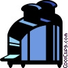 Toaster with bread Vector Clip Art image