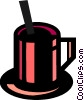 Vector Clipart graphic  of a Hot cup of coffee