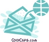 Vector Clip Art graphic  of a World wide web concept