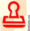 Vector Clip Art picture  of a Rubber Stamps