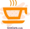 Hot cup of tea Vector Clipart image