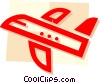 Vector Clipart graphic  of a Commercial Jets