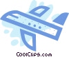 Commercial airplane Vector Clip Art image