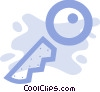 Vector Clipart picture  of a House key