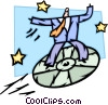 man Soaring to New Heights on cd-rom Vector Clipart image