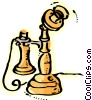 Antique Telephones Vector Clip Art image