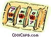 Slot machine with world wide web Vector Clipart illustration