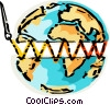 Sewing the world back together Vector Clip Art picture