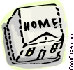 Keyboard home key Vector Clipart illustration
