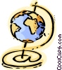 E-mail symbol and globe Vector Clipart illustration