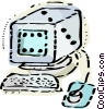 Computer Desktop System Vector Clipart image
